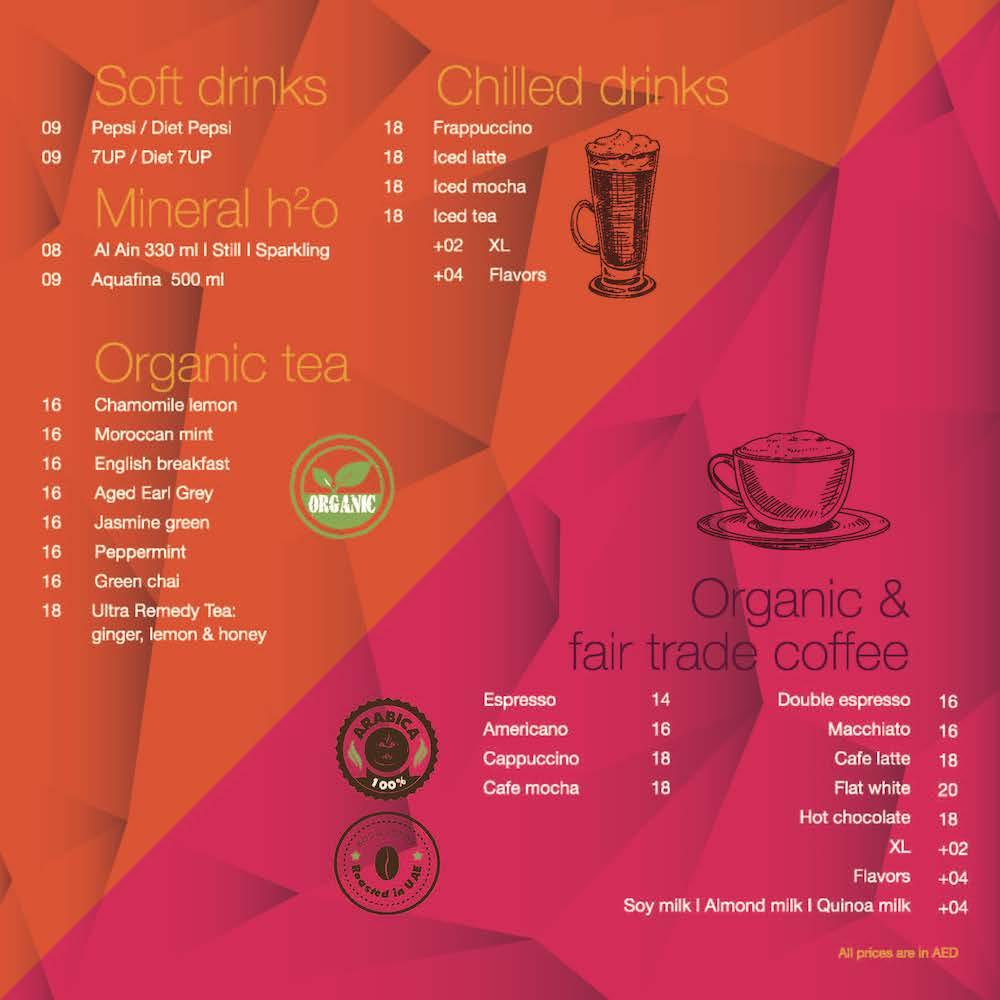 Ultra Brasserie Drinks Menu